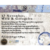 Wijn & Spijsproeverij 'Wild en Gevogelte' op 17 november 2016